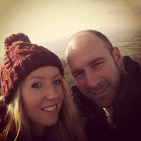 Alan & I up Cleeve Hill