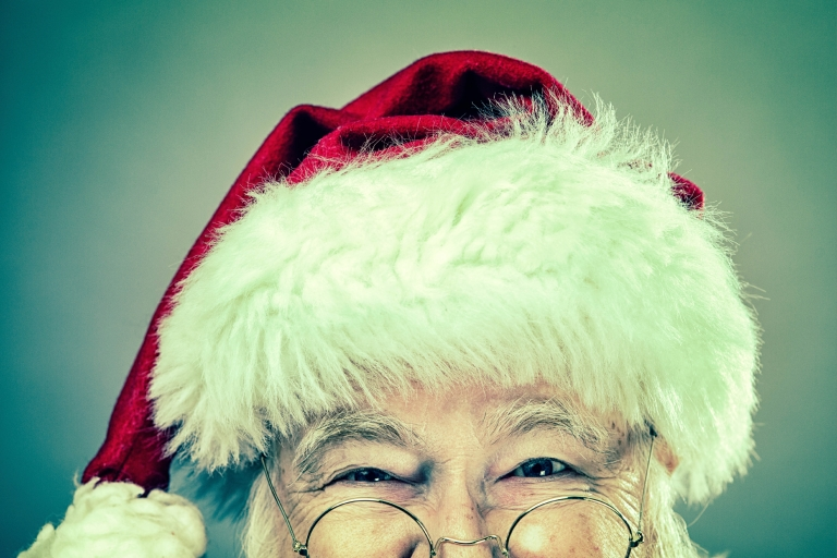 A real authentic Christmas photo of Santa.